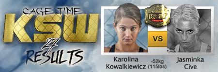 KSW27 Karolina Kowalkiewicz vs Jasminka Cive