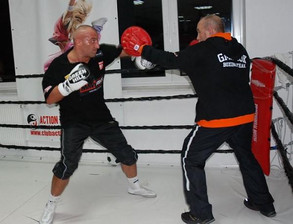 Marcin Najman na treningu z Andrzejem Gmitrukiem
