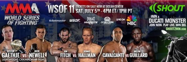 MMA-event-World-Series-of-Fighting-11-Gaethje-vs-Newell-Daytona-07.05.2014