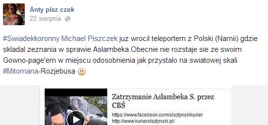 Michał Piszczek świadek k