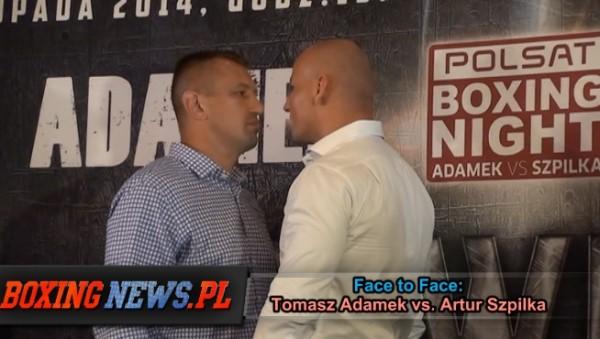Adamek vs Szpilka face to Face