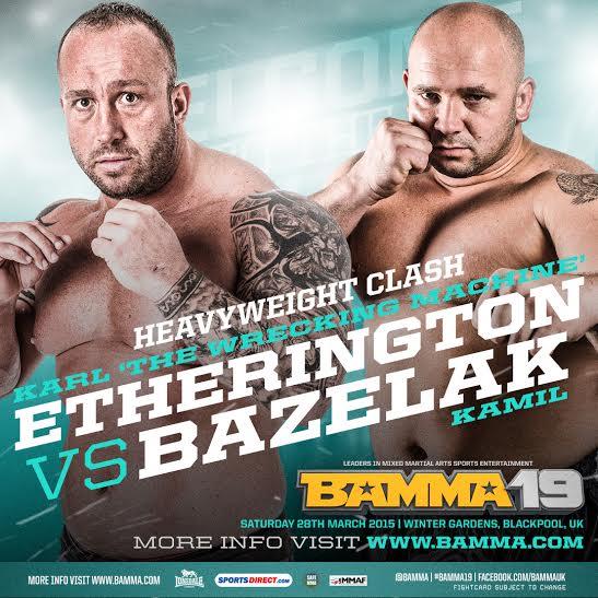 BAMMA19 Kamil Bazelak vs Karl Etherington
