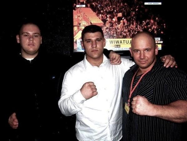 Od lewej Redzi i Marcin Siwy, Kamil Bazelak