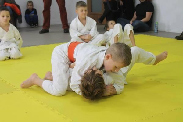 I Turniej Furo Karate w Andrespolu. Na zdjęciu Wiktor Klein i Adam Kominiak