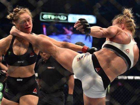 Ronda Rousey KO Holm