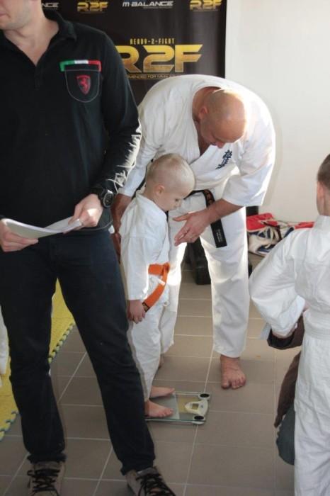 Janek Biały sensei Kamil Bazelak Furo Karate