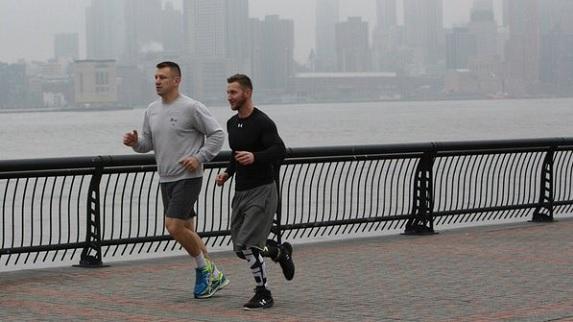 Tomasz Adamek i Chycki biegają