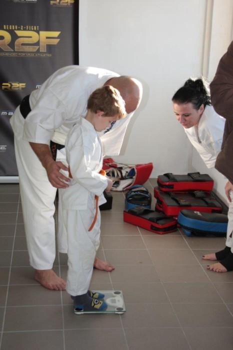 Ważenie Adam Kominiak sensei Kamil Bazelak sempai Małgorzata Ubowska Furo Karate