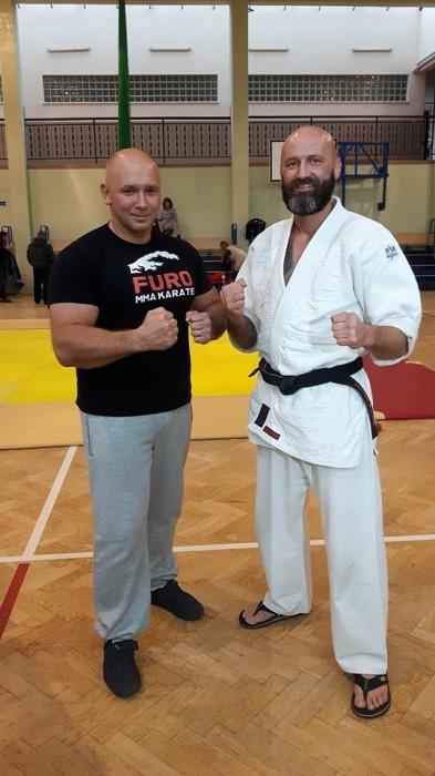 Ogólnopolski Turniej Furo Karate w Wiśniowej Górze sensei Kamil Bazelak i sensei Robert Musierowicz