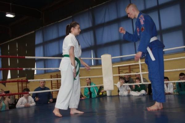 48.Puchar Polski Furo Karate 2016 Wiśniowa Góra Jakub Ślepko vs Natalia Jasińska