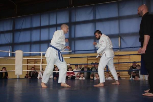 50.Puchar Polski Furo Karate 2016 Wiśniowa Góra Przemysław Lenartowicz vs Wojciech Marczak